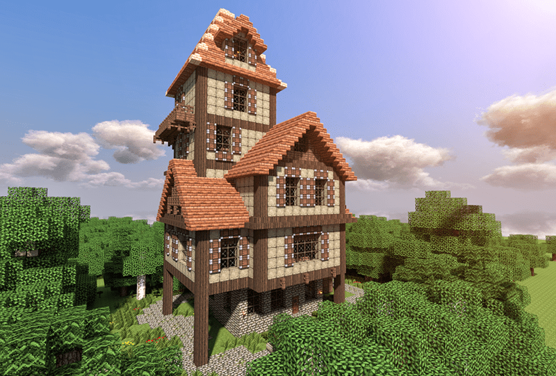 House On The Lake Minecraft Project Minecraft Builds Pinterest