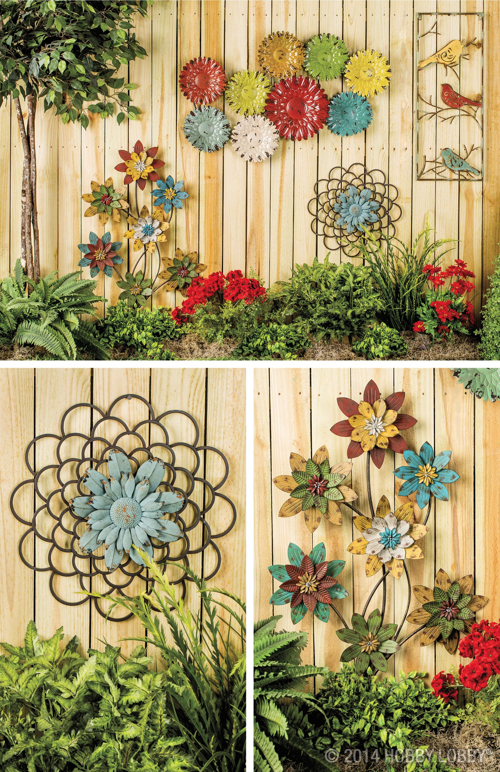 Decorating A Garden Fence Love This Idea Very Much! Wall Art