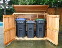 garbage can shed | Outdoor Living Today | 6x3 Oscar Trash ...