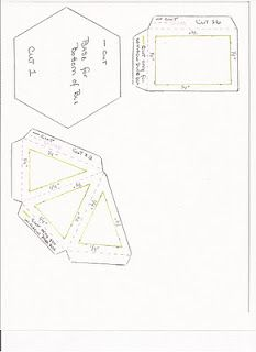 Hexagon (gazebo) box template. This links to the pattern