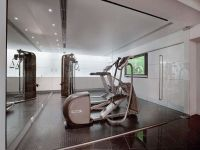 Fabulous Gym Room with Glass Doors for Modern Home Design