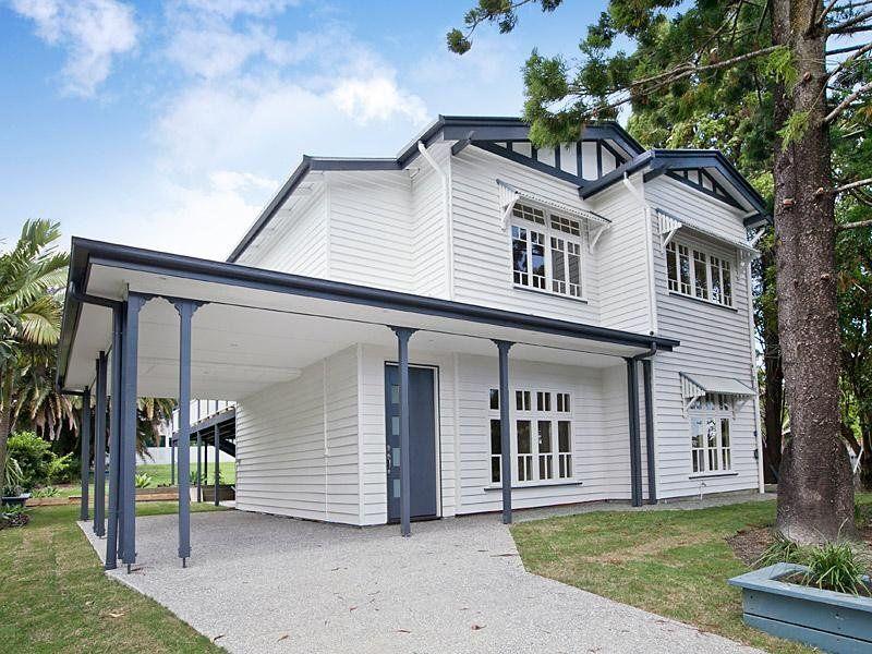 White Home With Blue Trim Exterior Google Search Exterior