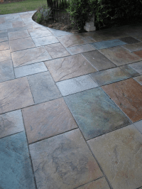 stamped concrete patio designs | Colored Stamped Concrete ...