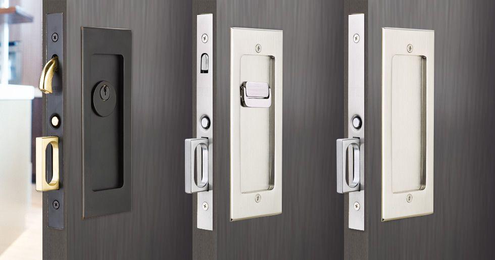 Modern Rectangular Pocket Door Mortise Lock