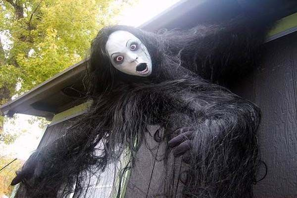 decoration very creepy outside halloween decorating ideas with