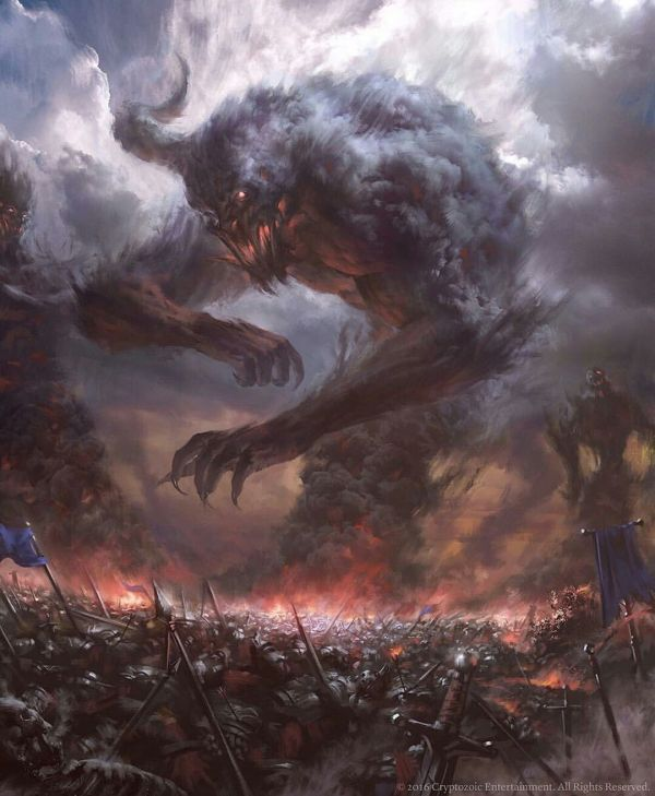 Smoke Monster Fantasy Creature And Entity Monsters Art