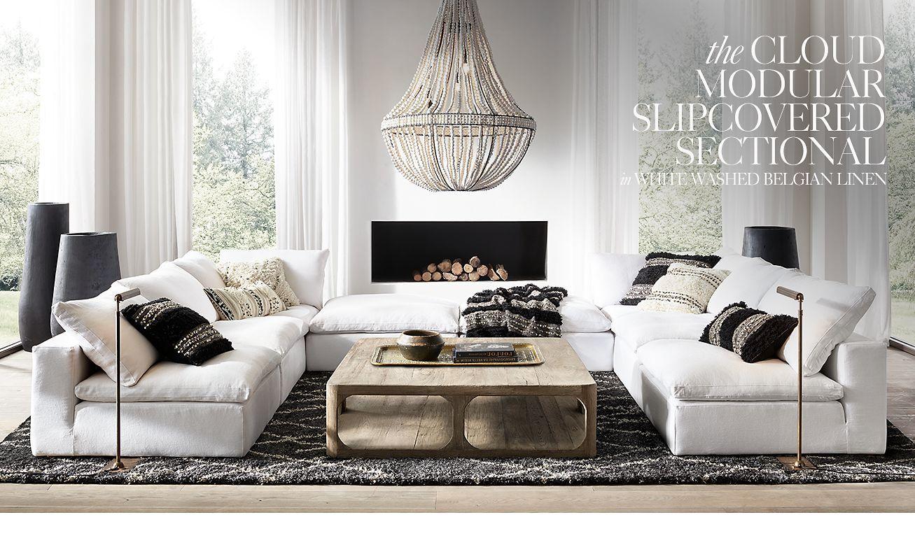 Restoration Hardware cloud sofa, love this configuration