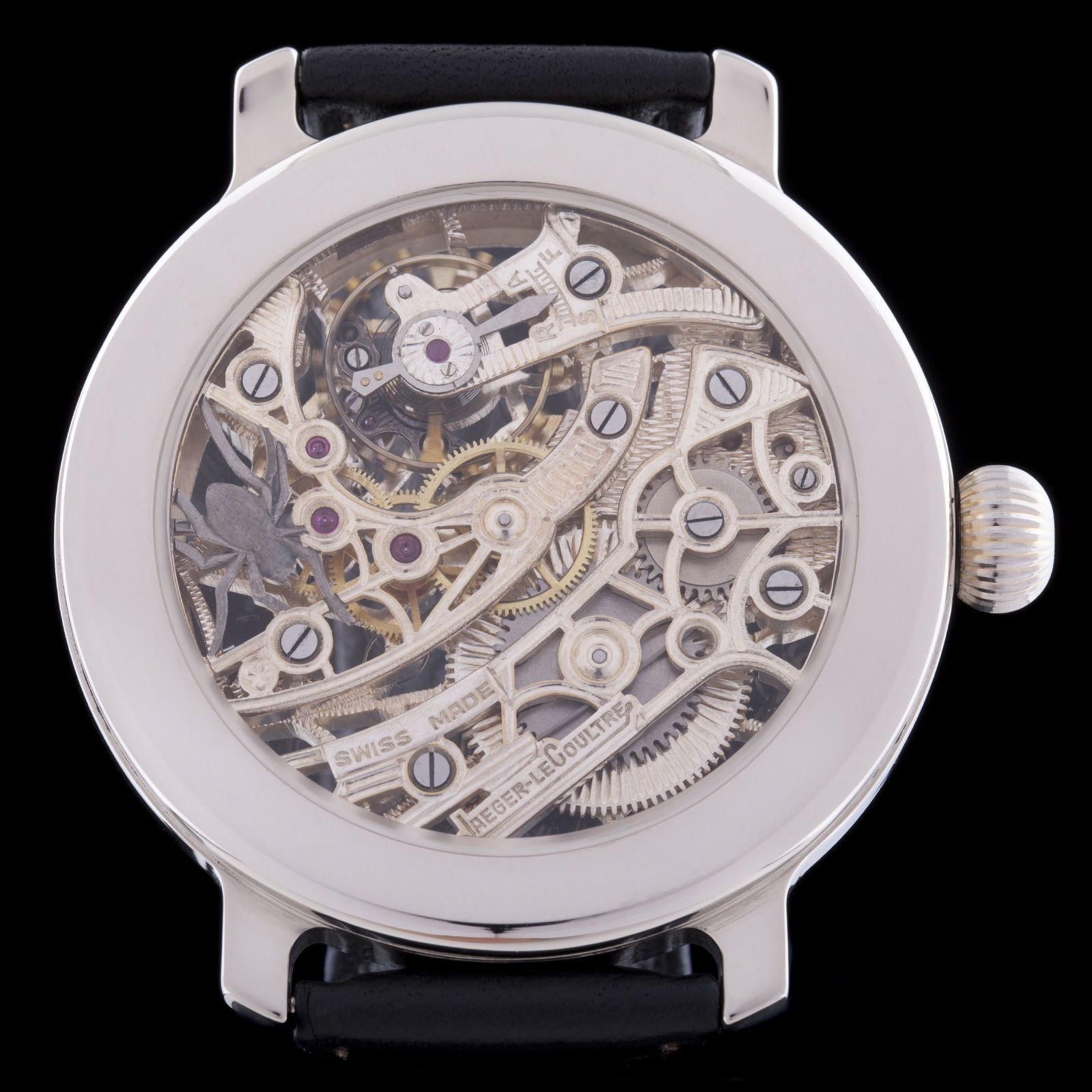 pocket watch movement diagram wiring for square d lighting contactors jaeger lecoultre mens skeleton spiderweb engraving swiss