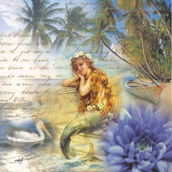 Mermaid Vintage Painting