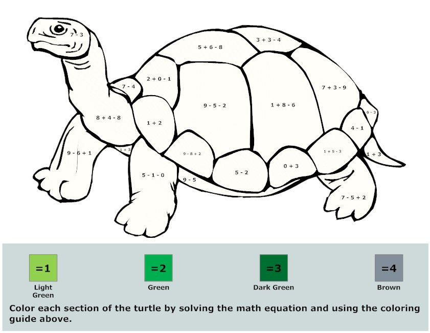 Free Kids Math Coloring Pages (8) activities. Math