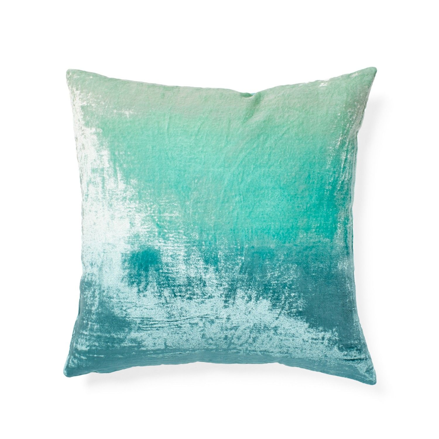 Turquoise Ombre Velvet Pillow at ABC  Interior Design