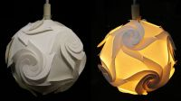 DIY paper lampshade (cyclone)- learn how to make a paper ...