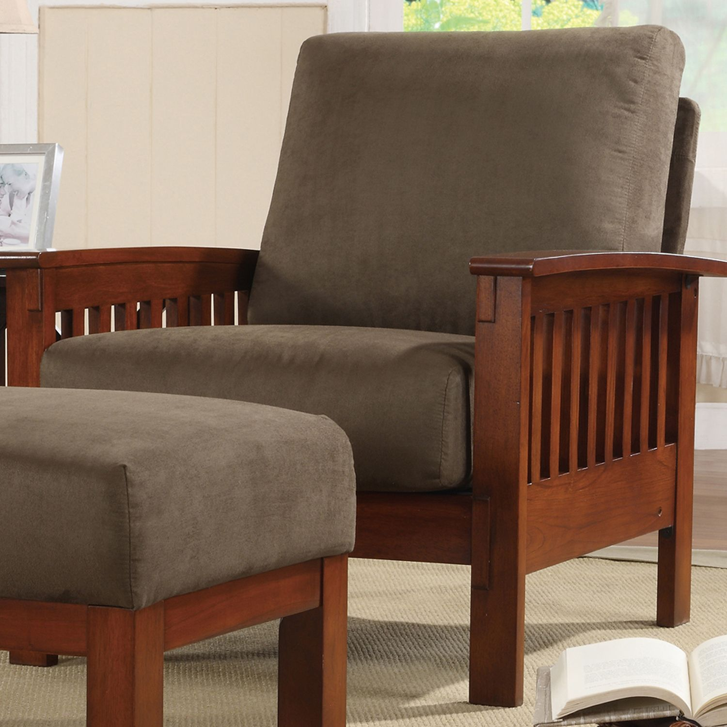 Mission Style Recliner Chair Add Additional Seating Area To Any Room With This