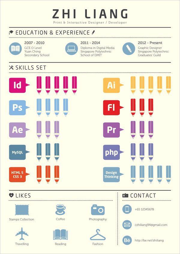 Simple Resume Example Of Graphic Designer 10 Interesting & Simple