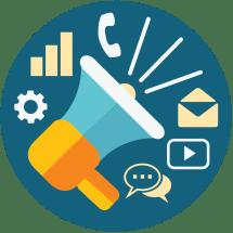Icon - Web Marketing Ft Illustration Business Flat