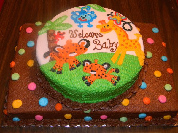 Fisher Rainforest Cake-baby Shower Ideas De