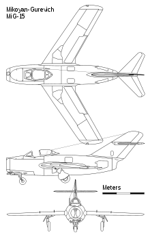 Mikoyan-Gurevich MiG-15 orthographic projections