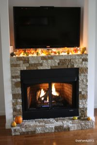 Our fireplace was built by my husband. Our stone is called ...