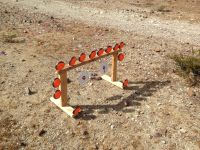 Clay pigeon target holder. Made out of 2X4, wood glue ...
