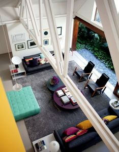 Amazing living room in jewel tones also arquiteto ajuda casal  colorir residencia marco antonio rh pinterest