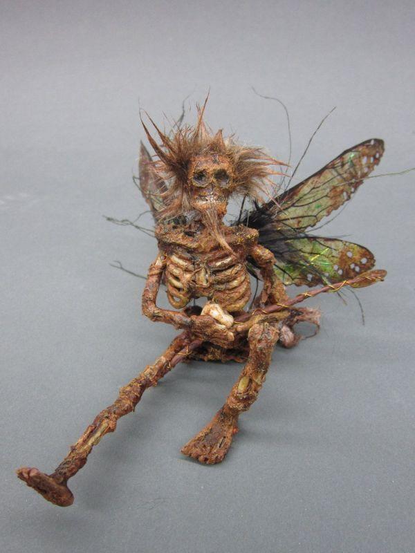 Ooak Realistic Male Dead Tooth Fairy Guy Fantasy Miniature Doll Art Goth Dollhouse