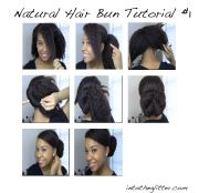 bun afro-textured hair