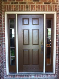 doors with sidelights | Home Exterior Painting | Brown ...