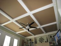 Hubby got this idea from a magazine, panels and beams of ...