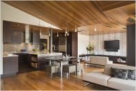 Great modern wood ceiling | Condo improvement ideas ...