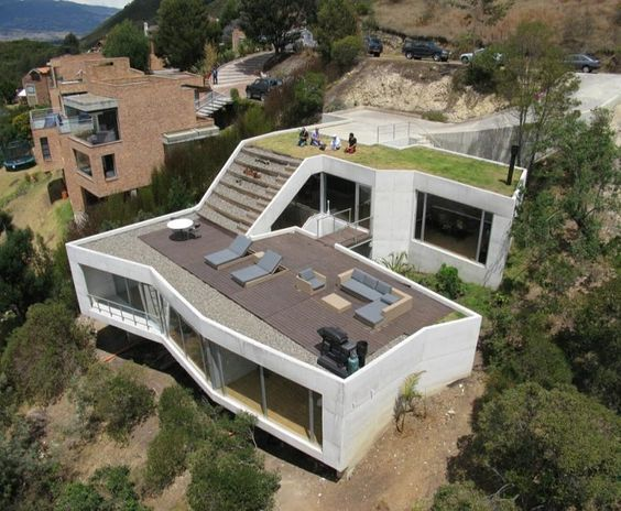 Steep Slope Home Designs Steep Hillside House Plans House On A