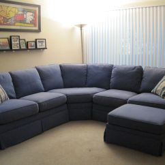 Build Sectional Sofa Vs Couch Your Own Curved Fabric Blue