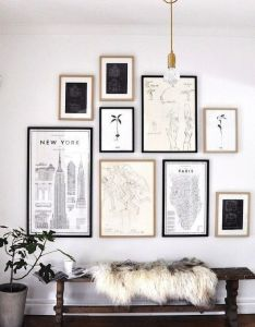 Art wall also home interior pinterest walls gallery and rh