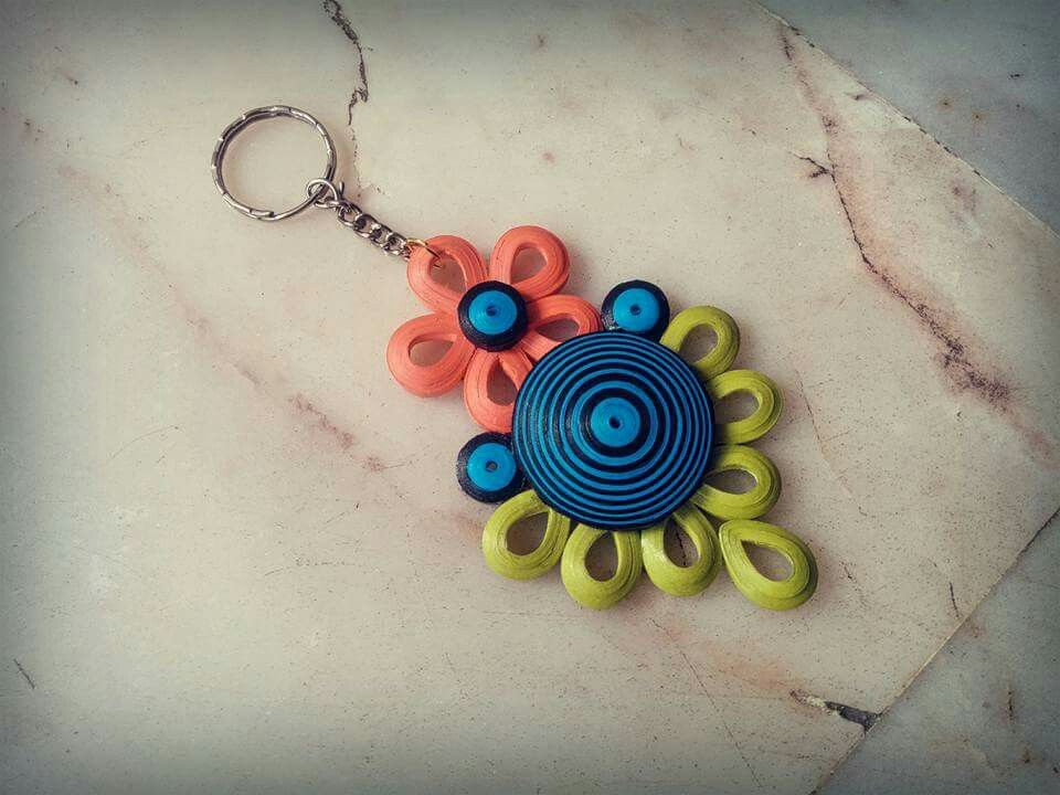 Keychains Earrings Paper Quilling