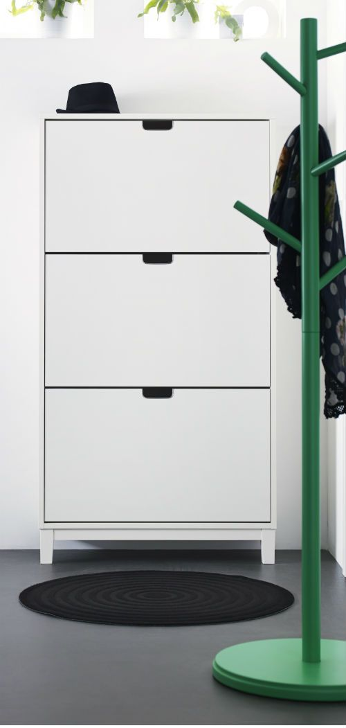 STLL Shoe cabinet with 3 compartments white  Entry ways Cabinets and Entryway