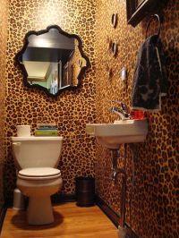 leopard print wallpaper in bathroom http://www ...