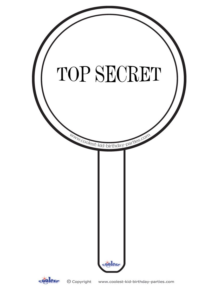 Printable Magnifying Glass Decoration Coolest Free