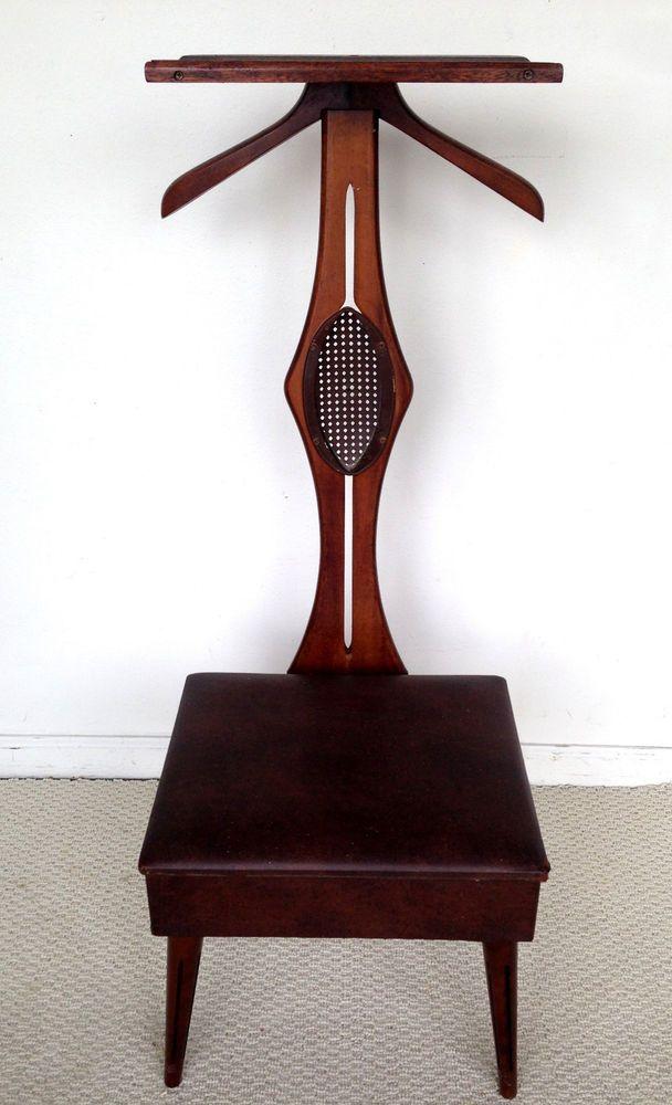 Vintage Butler Valet Gentlemen Chair Mid Century Modern