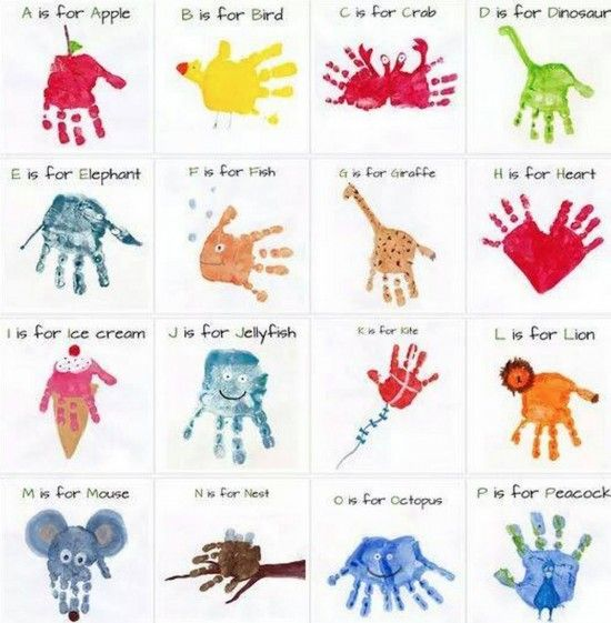 Handprint Alphabet Art The WHOot Activities with Little