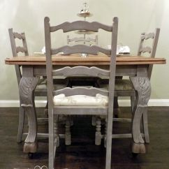 Painted Table And Chairs Are Chair Covers Necessary Wedding Bistro Dining 4 Chalk Paint By Annie