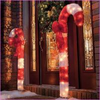 Large Outdoor Candy Cane Decorations | Christmas Outside ...