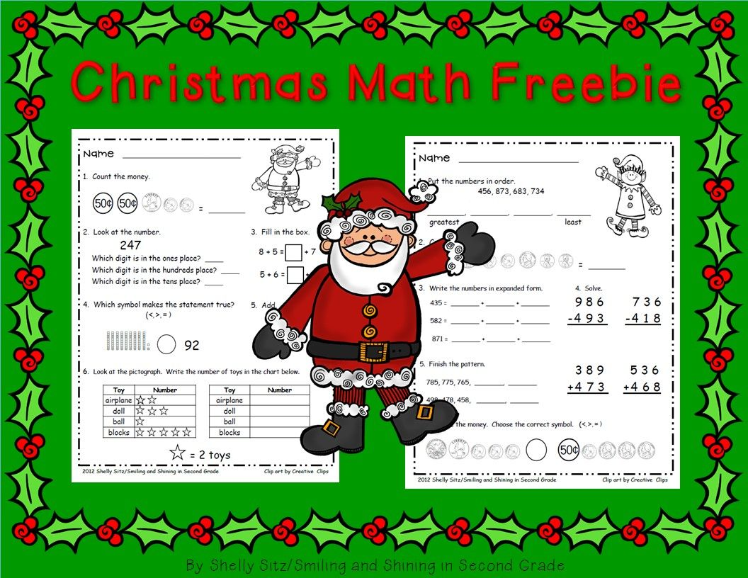 Christmas Math Worksheets Reviews Math Skills For Second