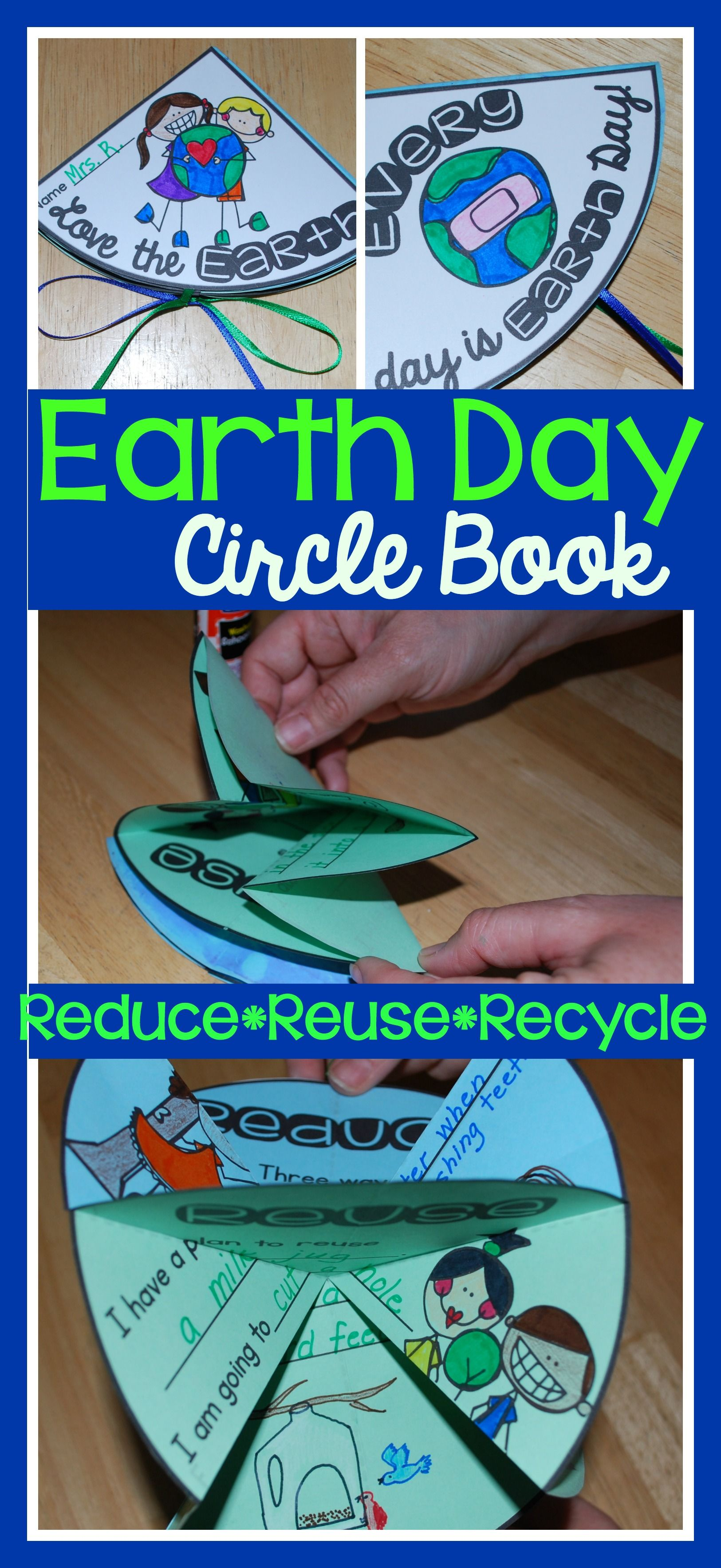 Earth Day Circle Book Reduce Reuse Recycle