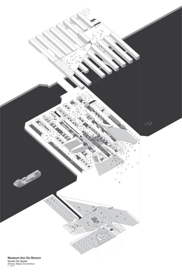 Architecture Diagram Presentation Isometric Museum Ann De Stroom Xaveer Geyter Sam