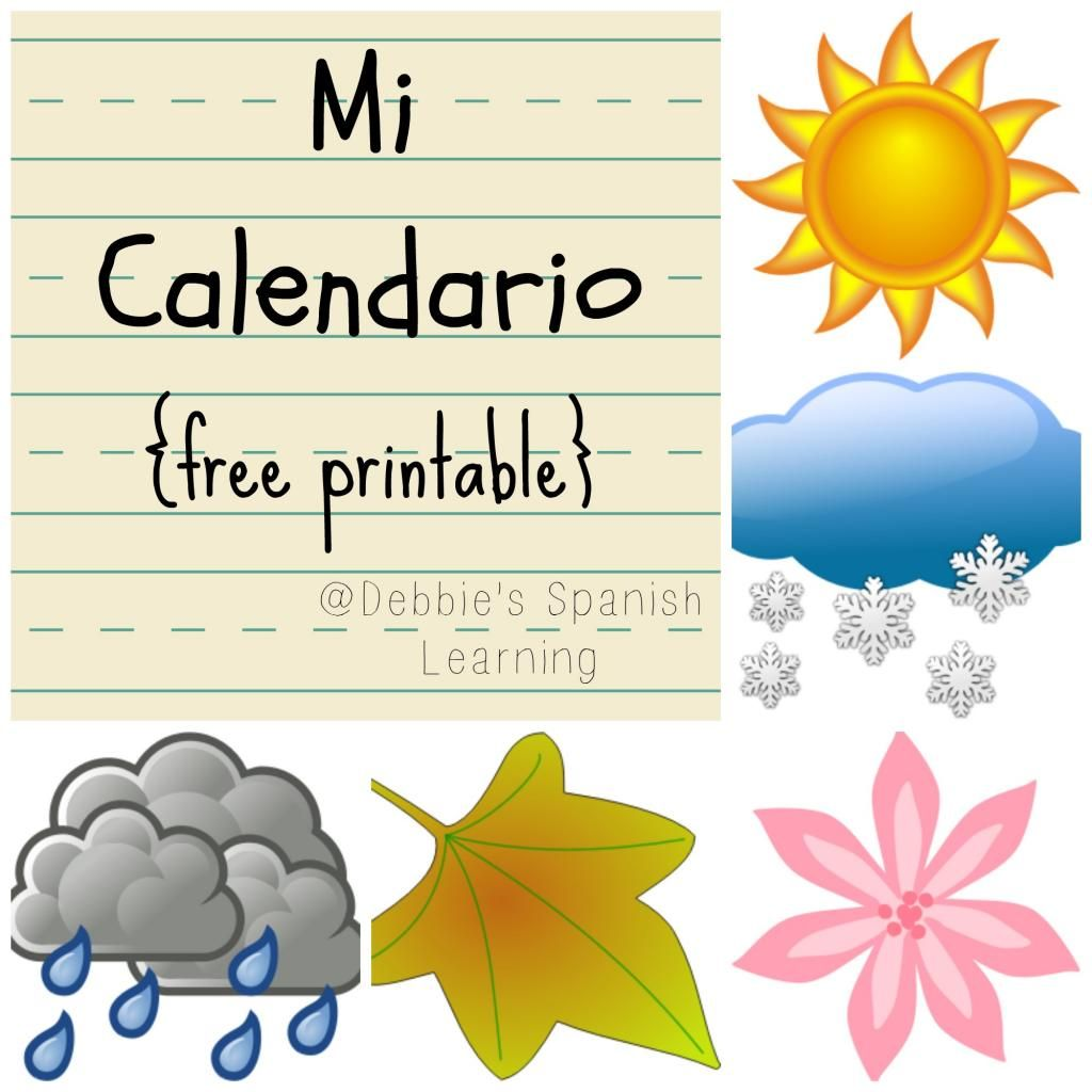 Mi Calendario Teaching Dates Seasons And Weather With A