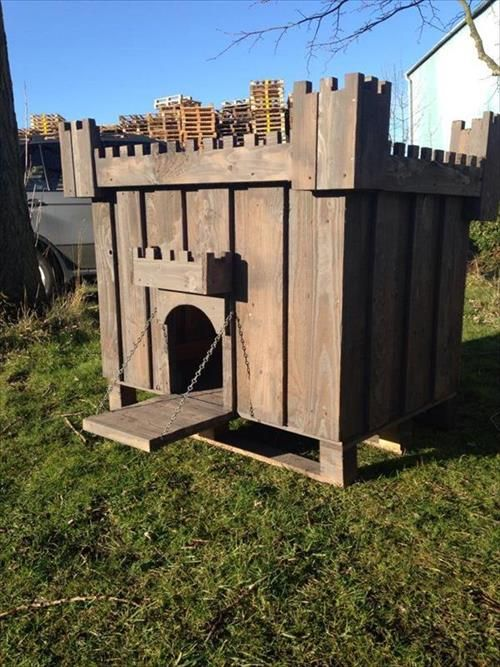 DIY Dog House Plans Made From Pallets Dog House Plans Pallet