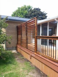 Backyard Privacy Screen - louvers. Great solution by flex ...