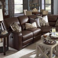 Furniture, Wonderful Classic Style Dark Brown Leather ...