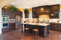 acacia floors with alder cabinets | Cabinet 13 shown with ...