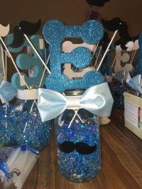 Mustache baby shower centerpiece | Baby shower | Pinterest ...