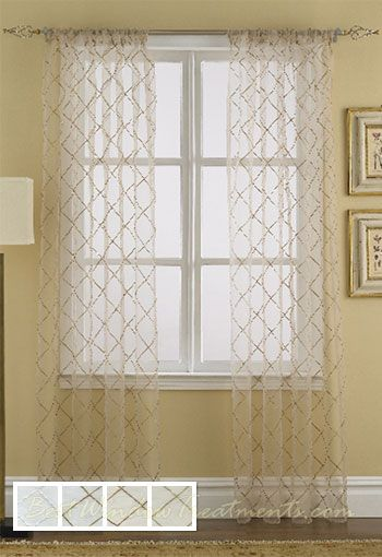 Liona Sheer Curtain Drapery Panels Colors Shabby And Chic